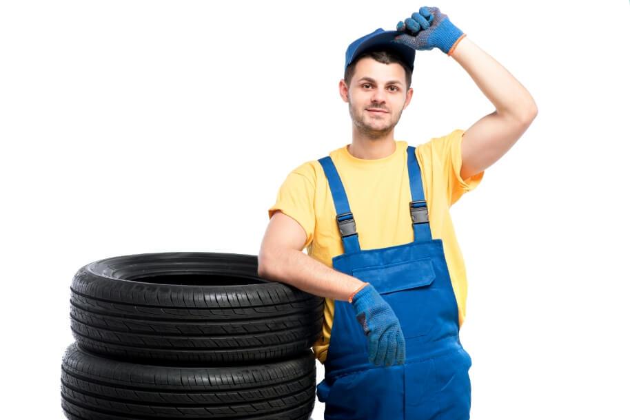 serviceman-sitting-tires-white